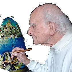 Ferenc Fassel portrait of painter artist