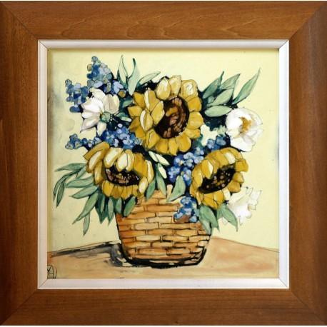 Margit Fehér: Sunflowers - 20x20cm