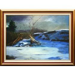Korbely István: Téli csend - 50x70 cm