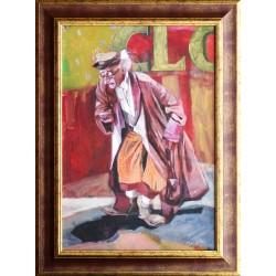 Korbely István: Old clown - 58x40cm