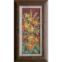 Ira Kovács Nagy: Autumn flowers - 34x14cm
