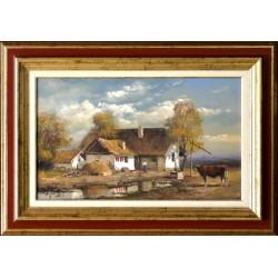 Rajczi Zoltán: Alföldi hangulat - 30x50cm