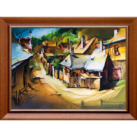 Ferenc Fassel L'ousa: Old houses - 50x70cm