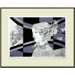 Szász Endre: Gyöngyhajú lány - 30x40 cm