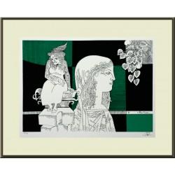 Szász Endre: Az öregség szobra - 30x40 cm
