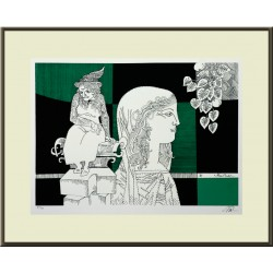 Szász Endre: The statue of old age - with frame 45x55cm