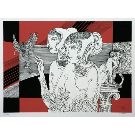 Szász Endre: Visszautasítás - 30x40 cm