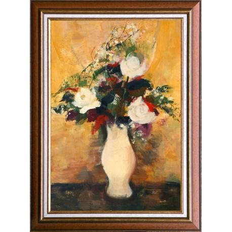 Balogh Ervin: Rózsacsokor - 60 x 40 cm