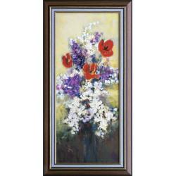 Ervin Balogh: Bezy  i tulipany - 70x30cm