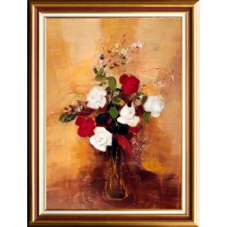Ervin Balogh: Colourful roses - 70x50cm