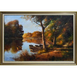 Zoltán Rajczi: The silence of Tisza river - 70x100cm