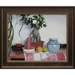 Keleti Péter: Csendélet almákkal - 40x50 cm