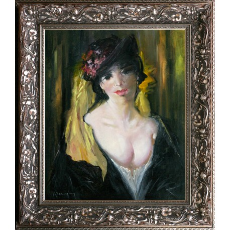 Violetta Kőszeghy: Portrait - 60x50cm