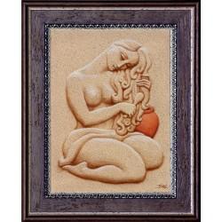 Boros Attila: Fésülködő - 40x30 cm
