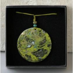 Zsupos Brigitta: Festett kagyló medál ~ 5cm