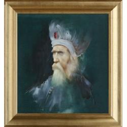 Szegvári Péter: A bölcs - 48x44cm