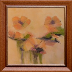 TIBRI: Yellow flowers - 50x50cm