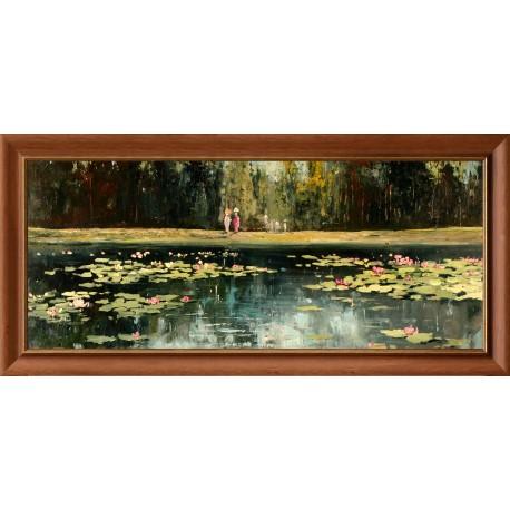 Kabul Adilov: Walk to the lake - 50x120 cm
