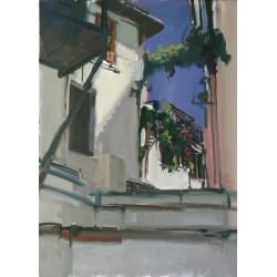Kádár Tibor: Görög sikátor - 70x50 cm