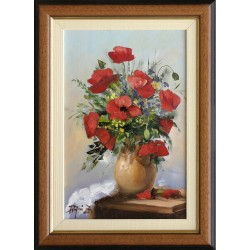 Zoltán Rajczi: Summer bouquet - 30x20cm