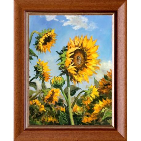 Zoltán Rajczi: Sunflowers - 40x30cm