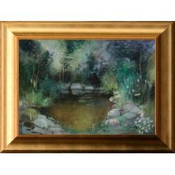 Zoltai Attila: Kerti tó - 35x50cm