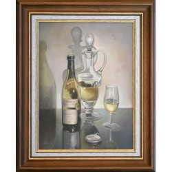 Attila Zoltai: A glass of Furmint - 40x30cm