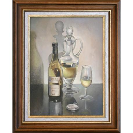 Attila Zoltai: A glass of Furmint - 40x30cm