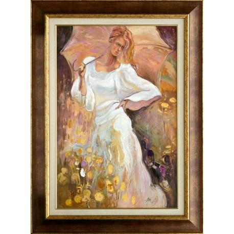 Attila Zoltai: Girl with sunshade - 60x40cm