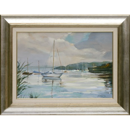 Tibor Sonkoly: Bay of Füred - 35x50cm