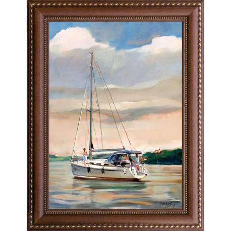 Tibor Sonkoly: Boat trip - 70x50cm