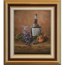 Gyula Straub: Still life with cherry - 30x25cm