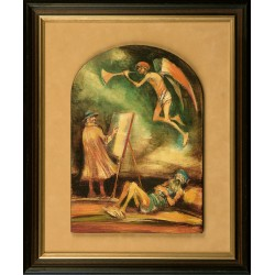 Szilárd Strissowszky: Scene with angel - 39x27cm
