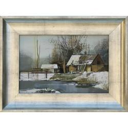 Zombori László: Halásztanya télen - 20x30cm