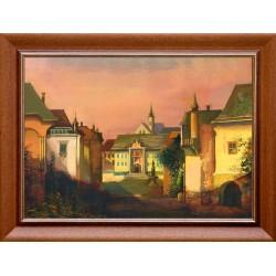László Zombori: Old Town Quarter - 50x70cm