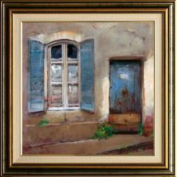 Gábor Walter: Provence window - 40x40cm