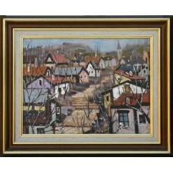 Richárd Vojnits: Little town II. - 30x40cm