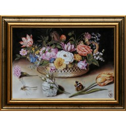 Gábor Kripli: Still life with butterfly - 25x35cm