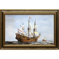 Gábor Kripli: French frigate - 20x35cm