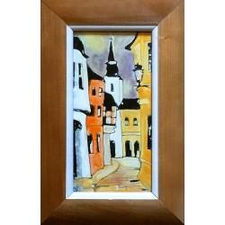 Margit Fehér: Old town detail - 20x10 cm