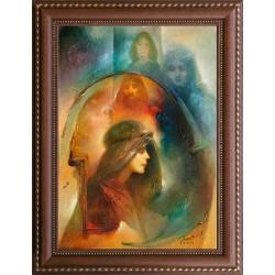 Buday Mihály: Szent Margit - 70x50cm
