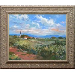 Kabul Adilov:Provence landscape - 40x50cm