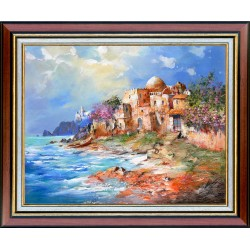Kabul Adilov: House by the sea - 40x50cm