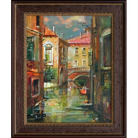 László Budai: Adriatic small town - 30x60cm
