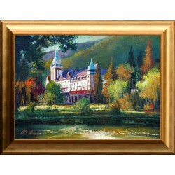 Alim Adilov: Hotel Palace, Lillafüred - 37x52cm