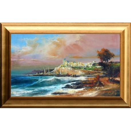 Alim Adilov: Seaside city - 42x73cm