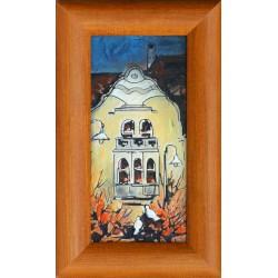 Fehér Margit: Szecessziós ház - 20x10 cm