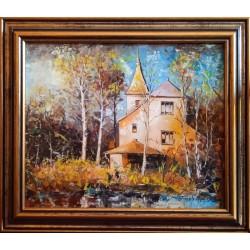 Straub Gyula: Erdei villa - 25x30cm