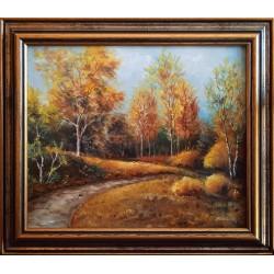 Gyula Straub: Birch trees - 25x30cm