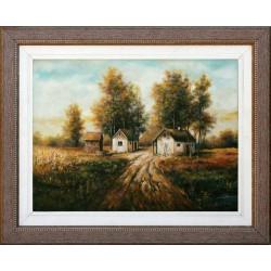 Gyula Straub: Road to the farm - 30x40cm